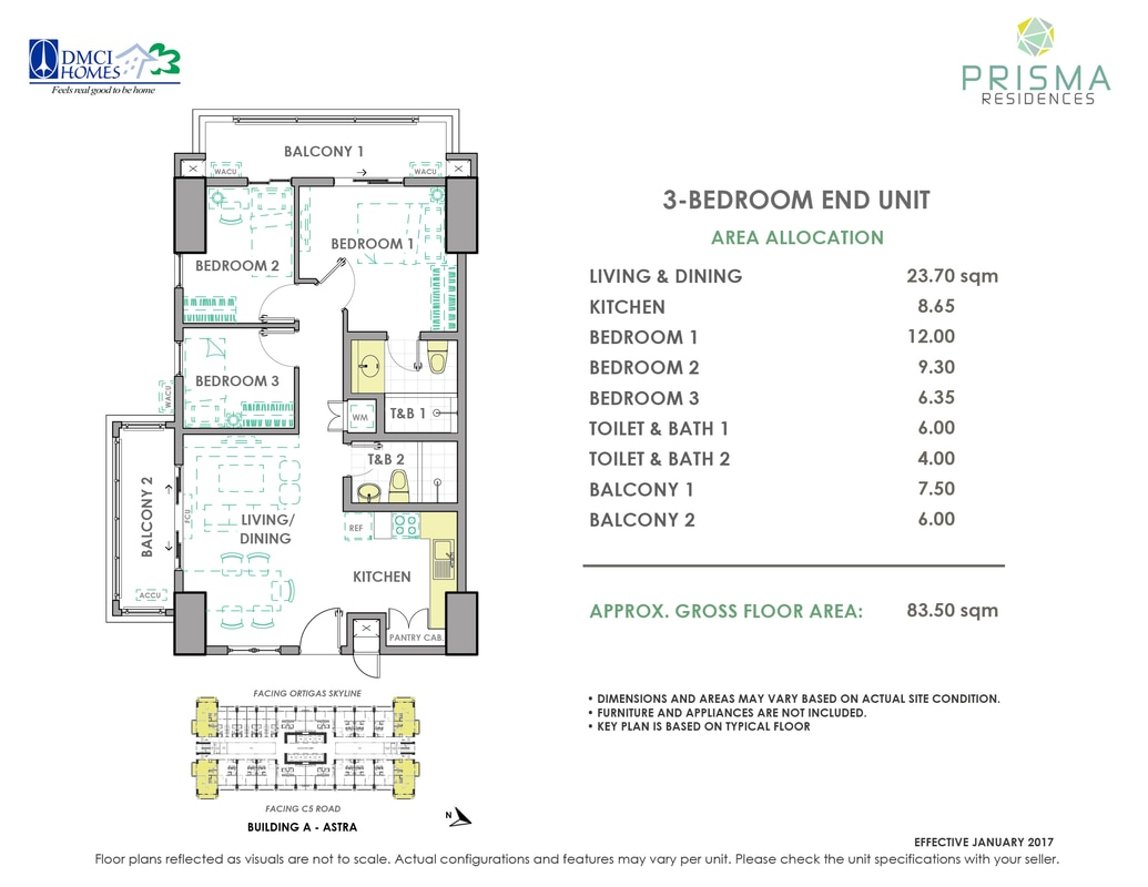 Prisma-3-BEDRoom-End-Unit-Astra
