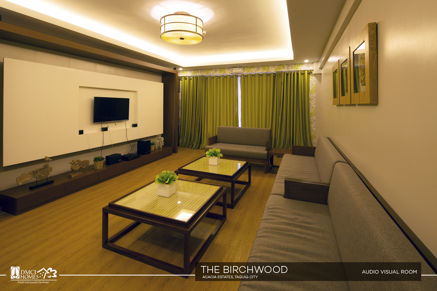 The Birchwood audio visual room